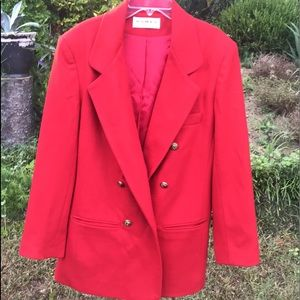 Vintage jacket 100% pretty red
